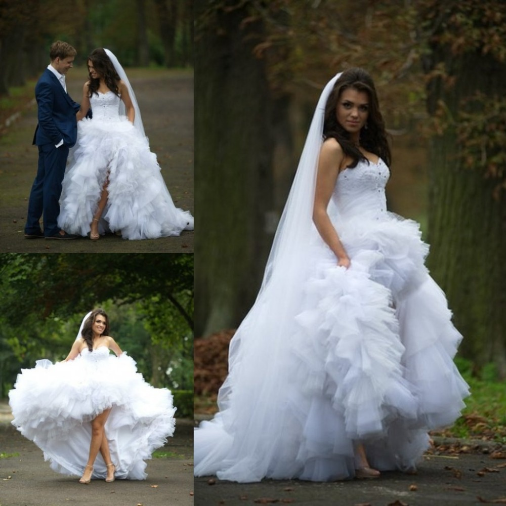 Wedding Dress, High Low Wedding Dress, Sweetheart Wedding Dress ...