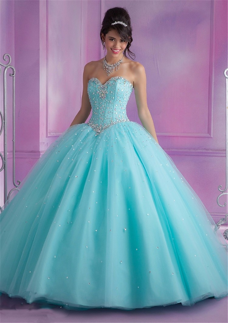 ed12a0e26a3 2016 Mint Blue Quinceanera Dresses Ball Gown With Beads Cheap Quinceanera  Gowns Sweet 16 Dress Vestidos De 15 Anos Prom Party Dresses custom made